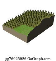 Plantation - Terrain Model Tree Plantation