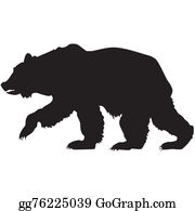 Growl - Silhouette Of A Grizzly Bear