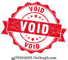 Void - Void Red Grunge Seal Isolated On White