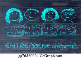 Say - Entrepreneurs Holding Panels That Says I Love My Job