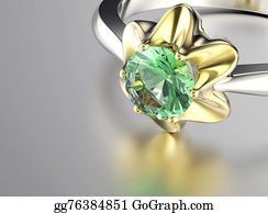 Unusual-Valentine - Ring With Diamond. Fashion Jewelry