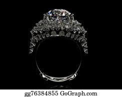 Unusual-Valentine - Ring With Diamond. Fashion Jewelry Background. Aquamarine