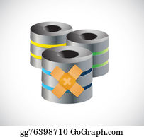 Band-Aid - Server Band Aid Fix Solution Concept Illustration