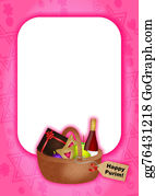 Purim - Purim Celebration Page Border