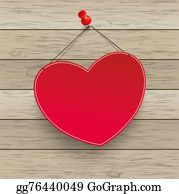 Tack - Red Heart Thumbtack Wood
