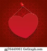Tack - Square Ornaments Red Heart Tack