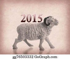 Goat-Cartoon - Happy New Year 2015 With Goat Cartoon