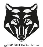 Huskies - Wolf Head Mascot