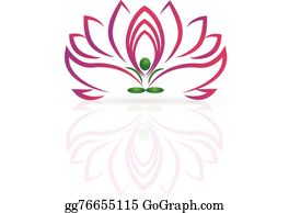 Golden-Lotus-Flower-Logo - Yoga Lotus Flower Logo