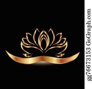 Golden-Lotus-Flower-Logo - Gold Lotus Flower Logo Vector