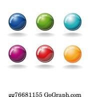 Six-Spheres-Balls-Illustration-With - Set Of Color Balls