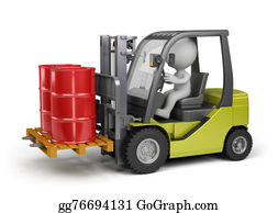 Hydraulic - Forklift With A Load