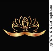 Golden-Lotus-Flower-Logo - Yoga And Lotus Logo