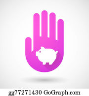 Butchers-Meat - Pink Hand Icon With A Pig
