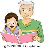 Granddaughter - Grandpa Reading To Girl