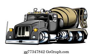Cement-Truck - Cement Truck Illustration