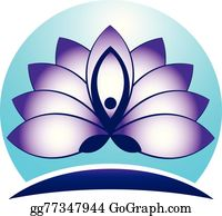 Golden-Lotus-Flower-Logo - Yoga Man Lotus Logo