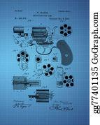 Antique-Pistols - Revolving Fire Arm Patent 1881