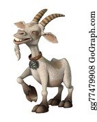 Goat-Cartoon - Happy Goat