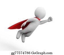 Superman - 3d Flying Super Hero Superman In A