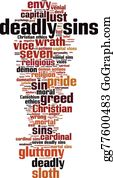 The-Wrath-Of-God - Deadly Sins Word Cloud