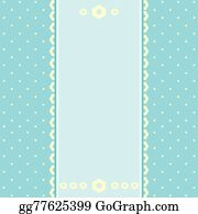 Vintage-Floral-Blue-Frame-Vector - Greeting Card Design.