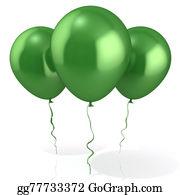 Retirement-Party - Three Green Balloons