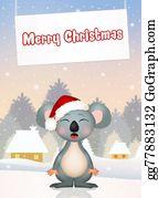 Eucalyptus - Christmas Postcard