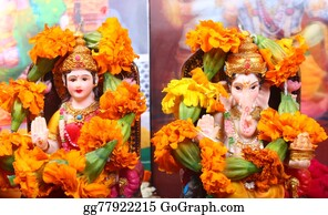 Ganesha - Goddess Lakshmi And Lord Ganesha