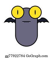 Scary-Funny-Dracula-Vampire-Cartoon - Big Eye Bat.