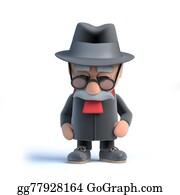 Geriatrics - 3d Tired Old Man