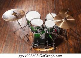 Drum-Set - Drums On The Floor