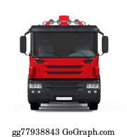 Cement-Truck - Red Concrete Mixer Truck