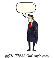 Private-Investigator - Cartoon Bad Tempered Man With Speech Bubble