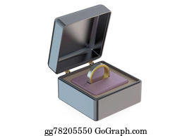 Same-Sex-Wedding - Men's Wedding Ring In Jewelry Box