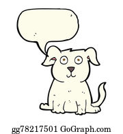 Halloween-Dog - Cartoon Happy Dog With Speech Bubble