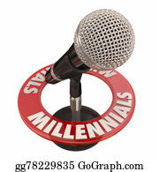Public-Speaking - Millennials Word Microphone Voices Talking Interview Podcast Radio