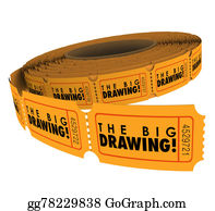 Fundraiser - The Big Drawing Ticket Roll Raffle Contest Win Prizes