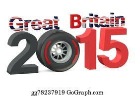 Formula-1-Racing-Car - F1 Formula 1 Great Britain Grand Prix In Silverstone 2015 Concept