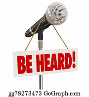 Public-Speaking - Be Heard Microphone Public Speaking Share Opinion Viewpoint