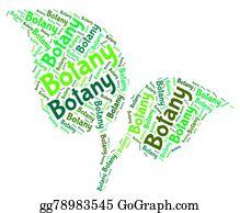 Plant-Life - Botany Word Shows Plant Life And Botanical