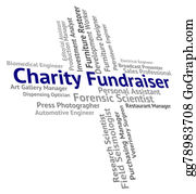 Fundraiser - Charity Fundraiser Represents Occupations Aiding And Aid