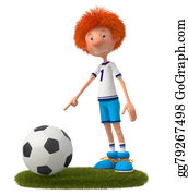 Funny-Toy-Train - 3d Boy Football Player