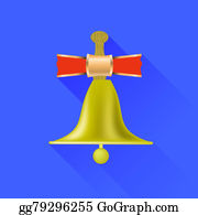 Blue-Bell - School Bell Icon