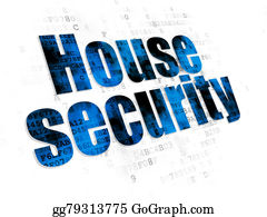 House-Alarm-Concept-Icon - Privacy Concept: House Security On Digital Background