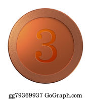 Cash-Prize - 3 Bronze Coin Medal Template