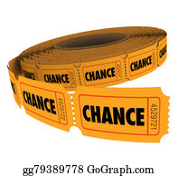Fundraiser - Chance Word Tickets Raffle Lottery Drawing Odds Enter To Win