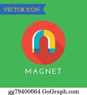 Gravity-Field - Magnet Icon Logo. Technology, Money Or Commerce And Mobile Symbols. Poles, Power, Red, Retro, School, Science, Shape, Sign, Steel, Symbol, Technology, Tool