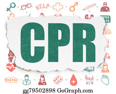 Cpr - Health Concept: Cpr On Torn Paper Background
