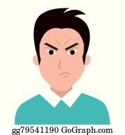 Vector Clipart - People feelings and emotions. Vector Illustration ...